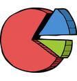 doodle pie chart vector image vector image