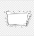 flat style trendy sign banner label design element vector image vector image