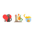 funny animal characters in different situations vector image vector image