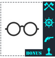 glasses icon flat vector image vector image