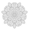 hand drawn decorative mandala vector image