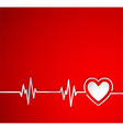 Heart beat with heart shape Useful as medical vector image