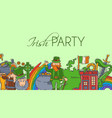 irish party banner st vector image vector image