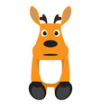isolated stuffed reindeer toy vector image vector image