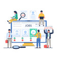 job search concept flat style design vector image vector image