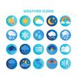 large set circular blue weather vector image