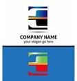 Letter E logo symbol vector image vector image