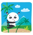 Little panda on bamboo vector image