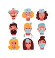 medical clinic staff flat avatars doctors vector image