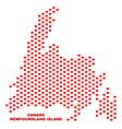 newfoundland island map - mosaic of valentine vector image vector image