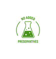 no added preservatives icon chemical artificial