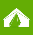 open tent icon green vector image vector image