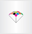 parachute logo symbol colorful icon vector image