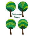 patterned trees set vector image vector image