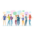 people conversation speech bubble on vector image vector image