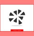 pie chart icon circle diagram charts graphs logo vector image vector image
