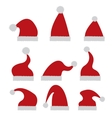 red Santa hat icon isolated on white vector image vector image