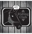 Retro label riding club vector image vector image