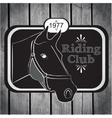 Retro label riding club vector image