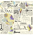 Rome newspaper background vector image vector image