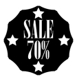 Sale sticker 70 percent off icon simple style vector image vector image