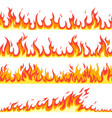 seamless fire flame fires flaming pattern vector image vector image