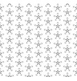 seamless stars deco art pattern vector image vector image