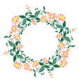 set flowers a lovely wreath vector image