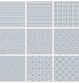 set of simple mono line patterns vector image vector image