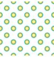 Sun in sky pattern cartoon style vector image vector image