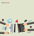 teamwork concept business partners working vector image vector image