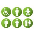 toilet restroom icon symbol vector image vector image