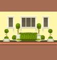 topiary garden plants vector image vector image
