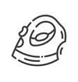 trendy line style icon about sewing toys - steam vector image
