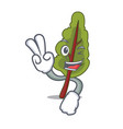 two finger chard character cartoon style vector image