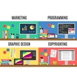 Various workspaces vector image