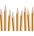 vector bunch of colored pencils vector image vector image