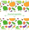 Vegetables background vector image vector image
