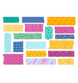 washi tape japanese paper tapes for photo vector image vector image