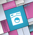Washing machine icon sign Modern flat style for vector image