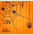 Web spiders and some things in Halloween style vector image