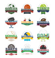 Sport icons - set vector image