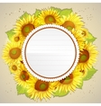 Floral decorative card with sunflowers vector image
