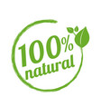 100 natural logo symbol vector image