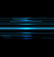 abstract blue metallic cyber on black design vector image vector image