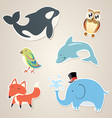 Animal Sticker vector image vector image
