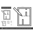 apartment plan line icon vector image
