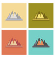 assembly flat icons nature cracks mountains vector image vector image