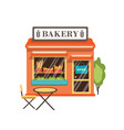bakery shop flat bakery store vector image