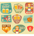 Beer Stickers vector image vector image